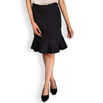 Black straight skirt with flare details NGN 6,000