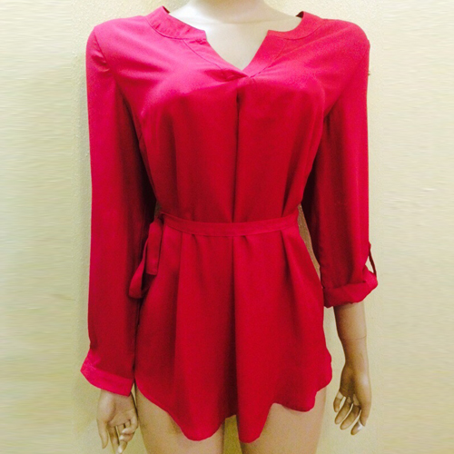 New...Dark pink top with both three quarts and long sleeves...NGN 5,000 SOLD OUT