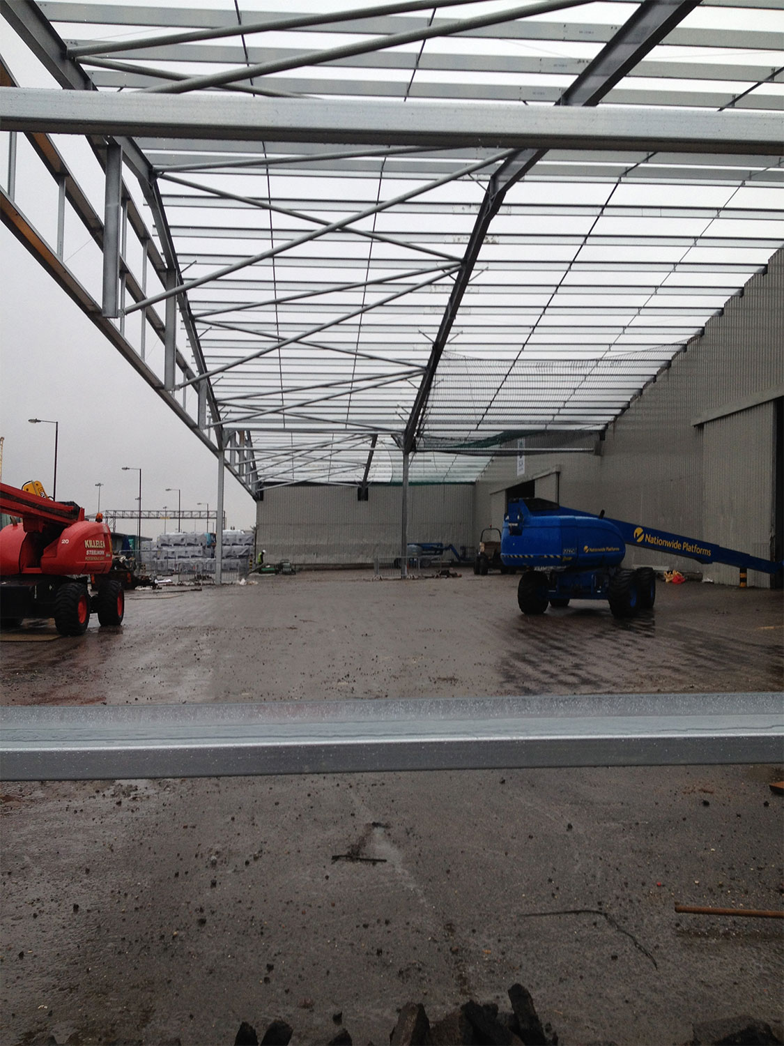 Shed 5 Canopy Extension King George Dock Hull Jembuild