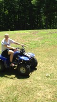 First time driving a four wheeler!