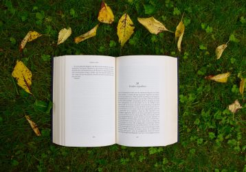 livre ouvert sur l'herbe - photo de Annelies Geneyn
