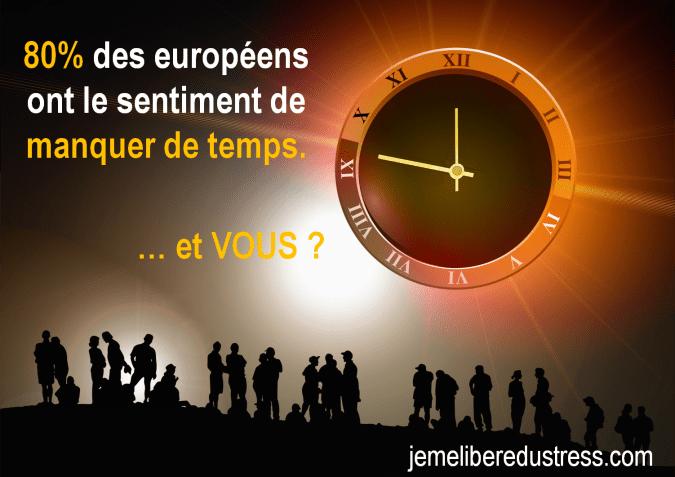 80% des européens ont le sentiment de manquer de temps