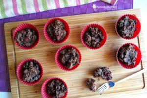 Muffins choco-coco-framboises paléo