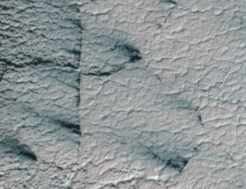 Mars mapping - ice crossing
