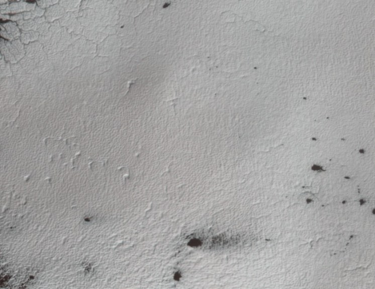 Mars mapping - pockets in snow