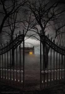 scary gate Halloween Flashback Friday