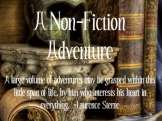 Non-fiction adventure