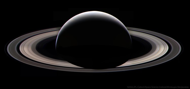 Cassini dark side of Saturn last pic