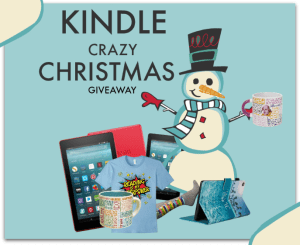 Kindle Crazy Christmas Giveaway badge