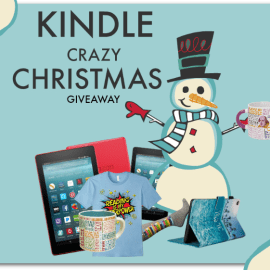 KINDLE Crazy Christmas Giveaway all through December