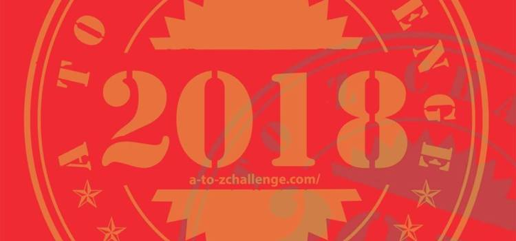 A to Z Challenge 2018 badge