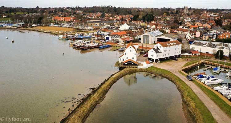 woodbridge mill shwoing tide pool