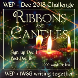 #WEP Ribbons and Candles | Christmas #Flashfiction