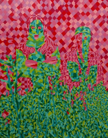 Embedded Figures(2) painting 213 x 168cm