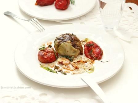Elegancki obiad z gołąbkami...