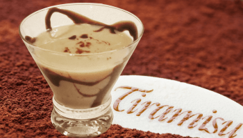 tiramisu martini is the same delicious taste as the italian cake, but much easier and quicker to make. Made with vanilla vodka, kahlua, chocolate liquer, and irish cream