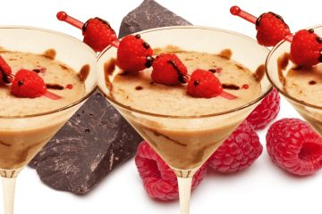The best Chocolate raspberry martini with chocolate liquer, vodka, and chambord