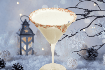 white christmas martini is a delicious holiday cocktail that consists of vanilla vodka, white chocolate liqueur, and peppermint schnapps