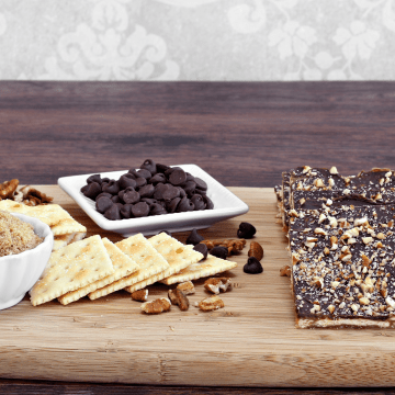 christmas crack also known as saltine bark is an addictive dessert that consists of saltines, butter, brown sugar, chocolate chips, and toppings such as m & ms, nuts, pretzels, candy canes, or whatever else you want to try. It makes a great holiday dessert that is highly addictive
