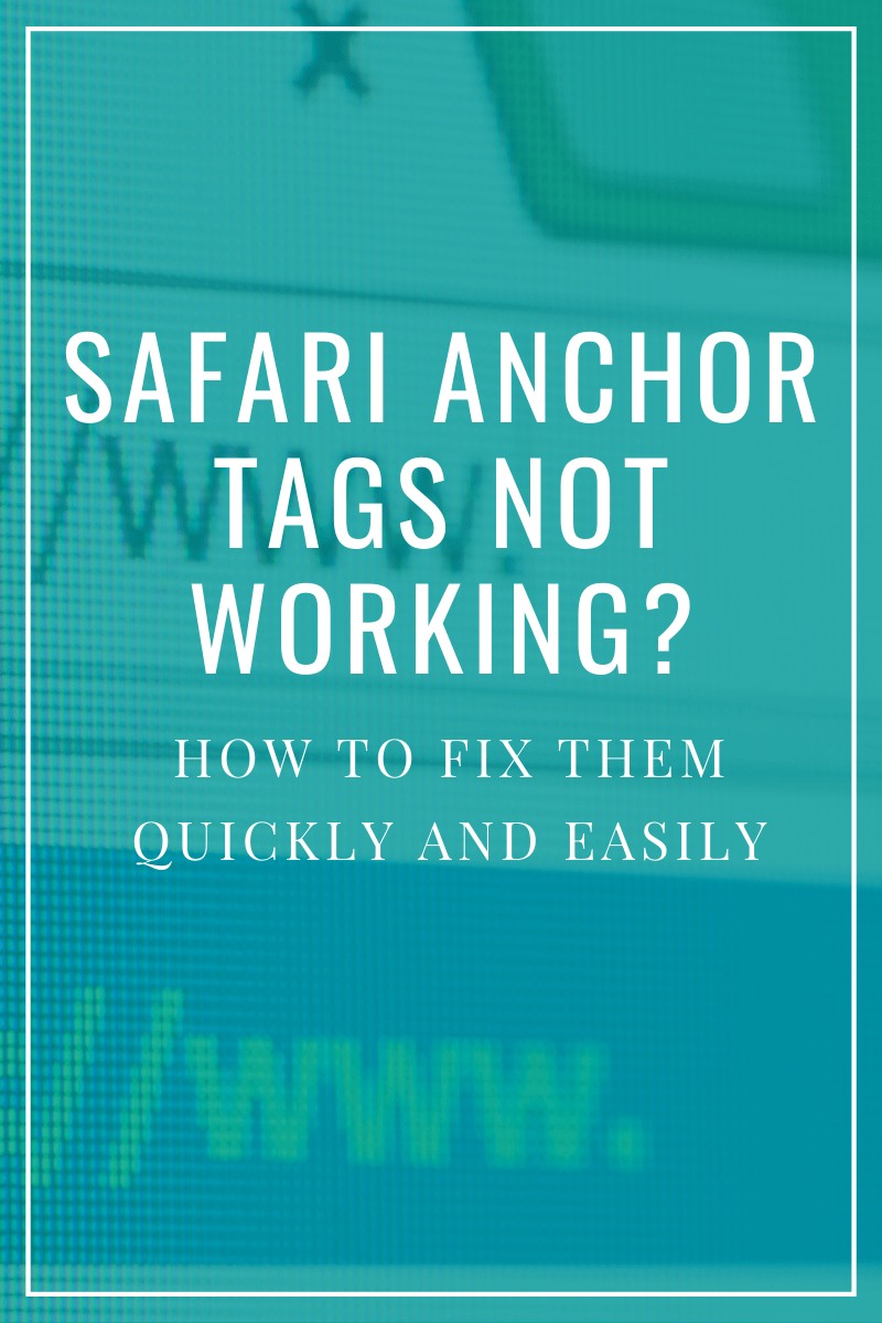 safari anchor tags