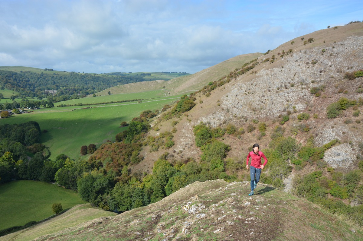 Running at National Trust-owned Dovedale in the Peak District
