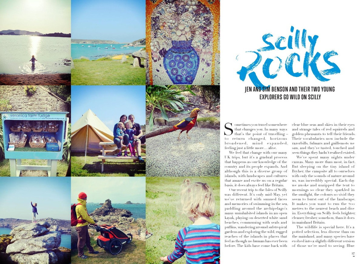Family adventure feature for Visit Isles of Scilly's holiday brochure