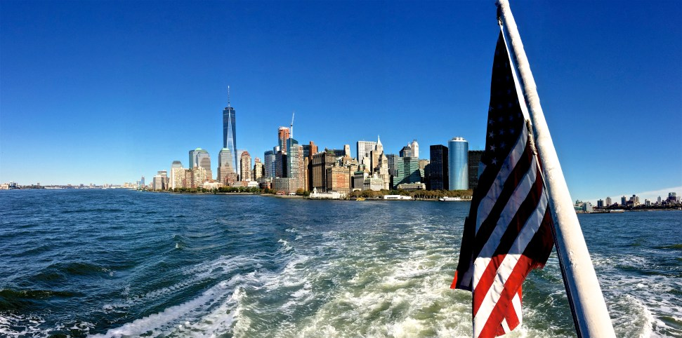 Manhattan from the Statue of Liberty ferry