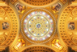 Cupola of the St. Stephen's Basilica in Budapest