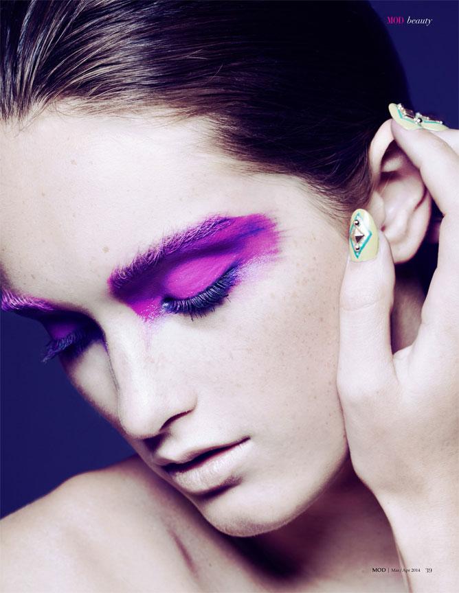 Purple Beauty Portrait