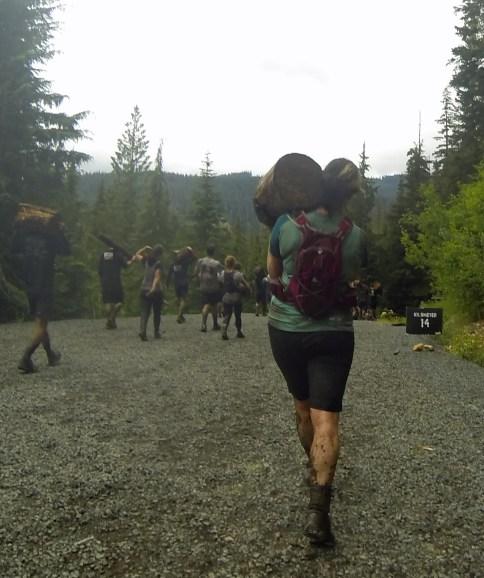 Jen on the Log Carry