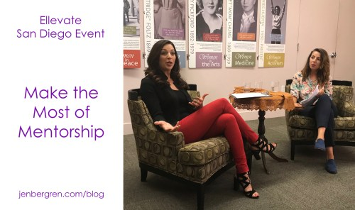 San Diego Ellevate Network women mentorship