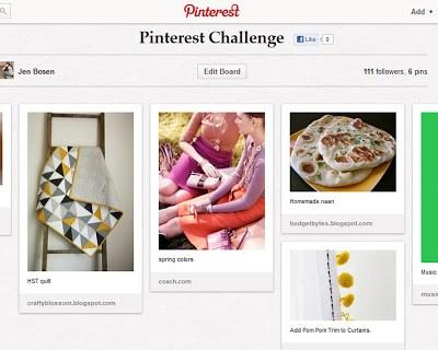Pinterest Challenge Update