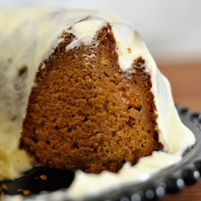 Pumpkin Bundt Cake with Vanilla Cream Cheese Frosting