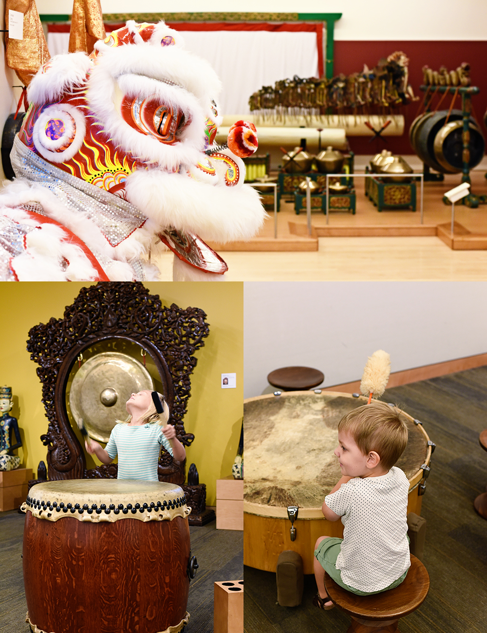 Guide to visiting the MIM (Musical Instrument Museum) in Scottsdale, Arizona: regalia and instruments to look at and some to play as well!