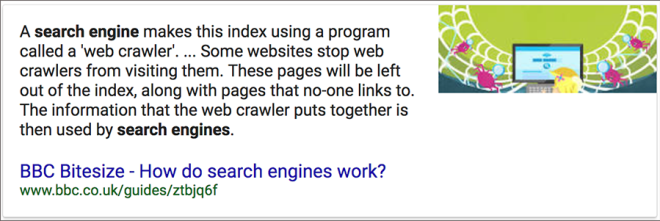 What does a search engine do?