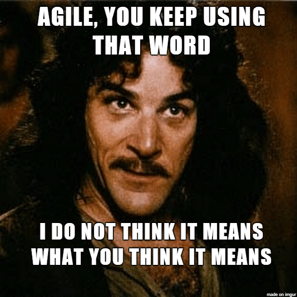 Agile: I don not think that word means what you think it means...