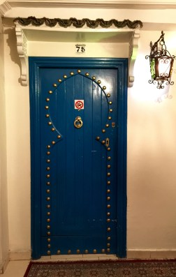 Beautiful hotel door in Casablanca
