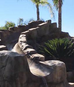 Faux rock slide