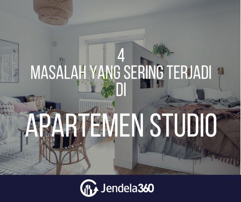 4 Masalah Ini Seringkali Muncul Ketika Tinggal di Apartemen Studio