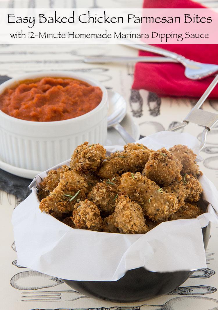 Crispy-Baked-Chicken-Parmesan-Bites