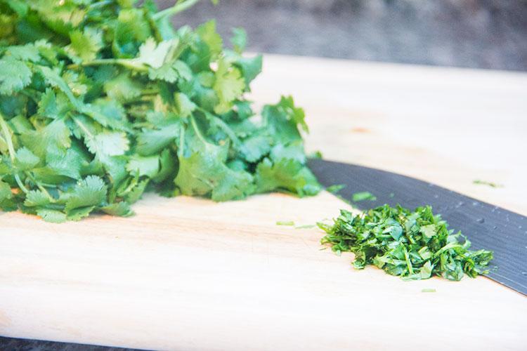chopping-cilantro