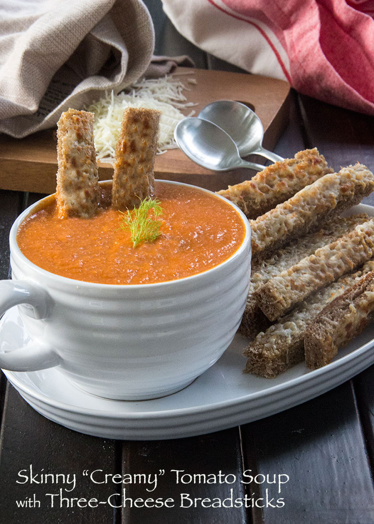 Creamy-Tomato-Soup-with-Three-Cheese-Breadsticks