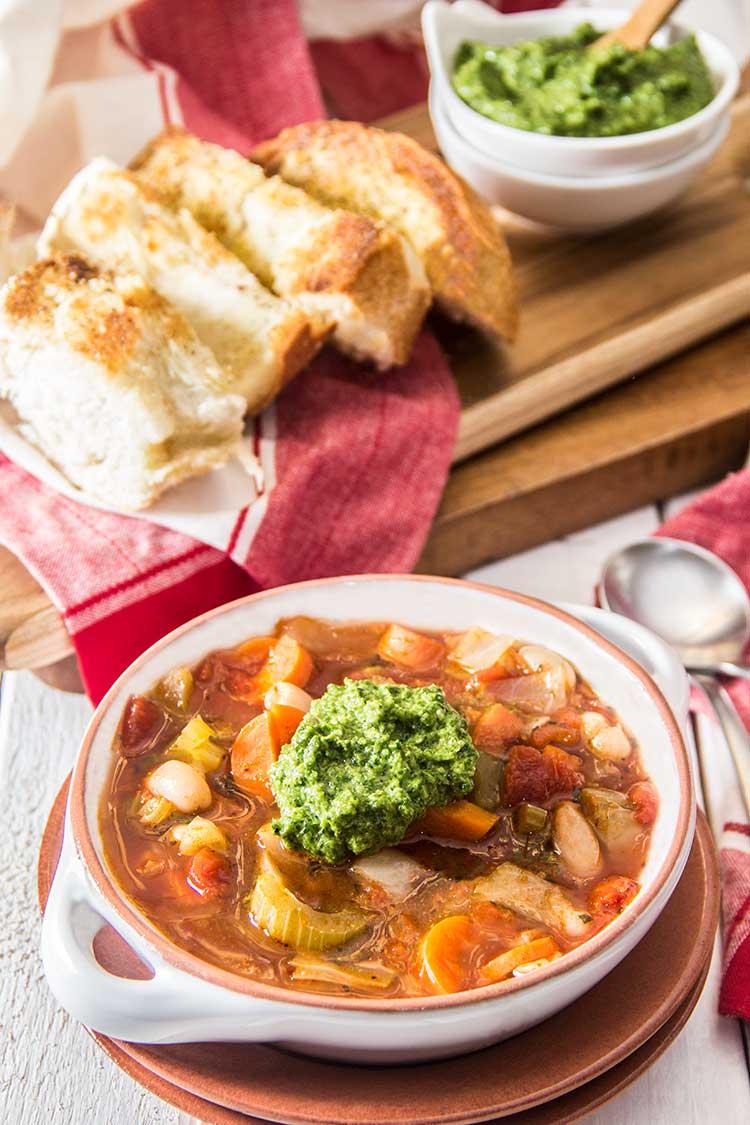 White-Bean-Vegetable-Soup-with-Pesto
