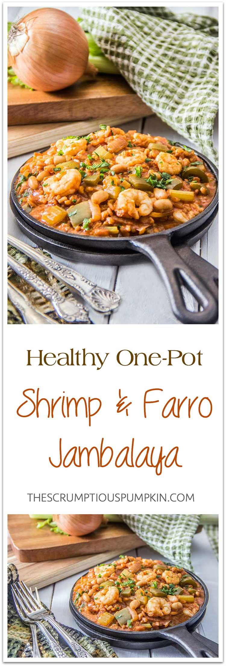 Healthy-One-Pot-Shrimp-White-Bean-Farro-Jambalaya