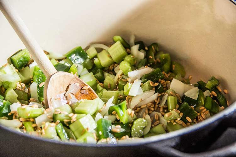 cooking-farro-green-bell-pepper