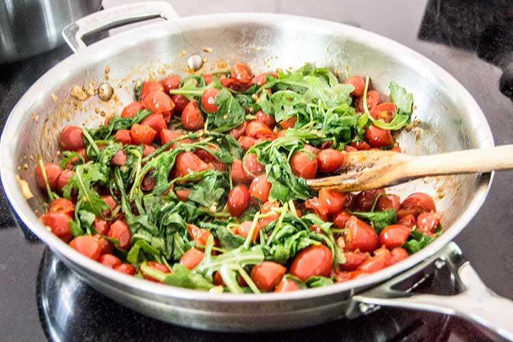 preparing-easy-greek-tomato-feta-pasta