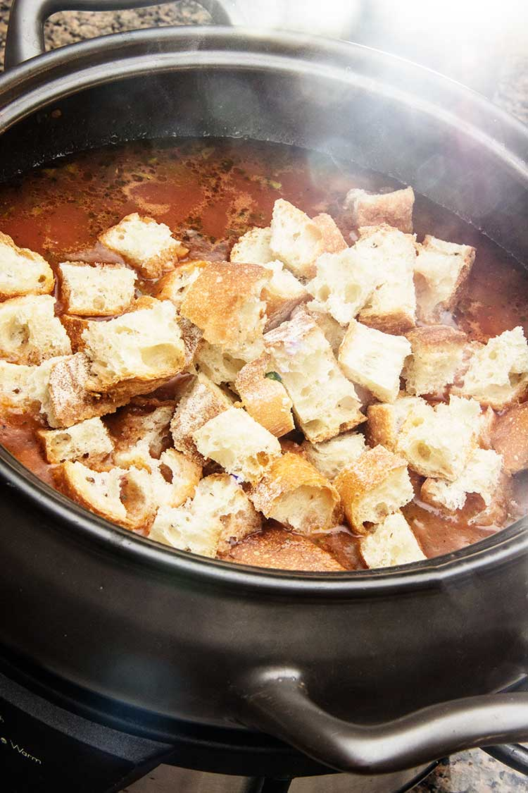 preparing-slow-cooker-tuscan-bread-soup