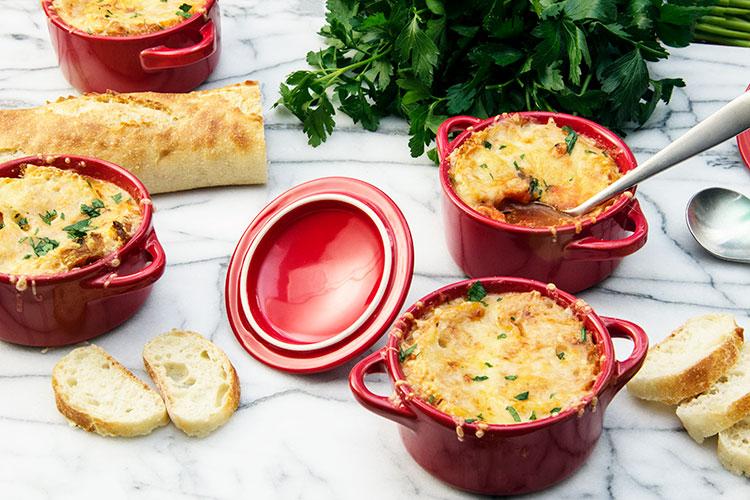 30-Minute-Cheesy-Tomato-Soup-Au Gratin