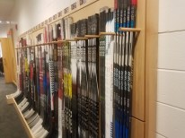The team's sticks