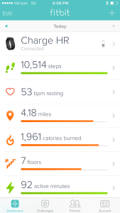 Use a fitbit for consistent exercise